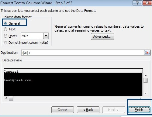 Opening a CSV in Excel Step 3-Clearalist