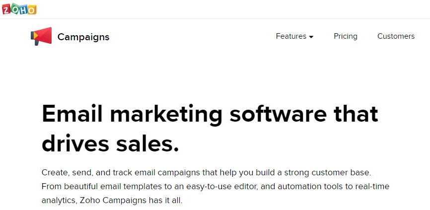 ZOHO Email Marketing Services
